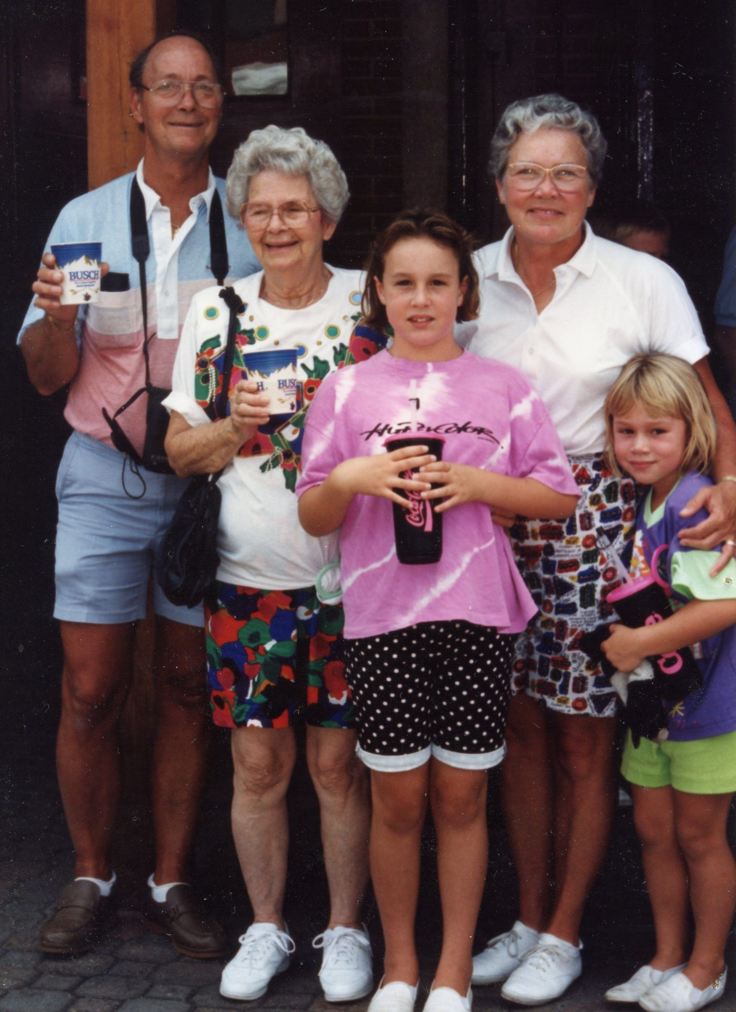 Grants Farm with Chuck, Irene, Margery Myers, Carrie and Kelly (1991)