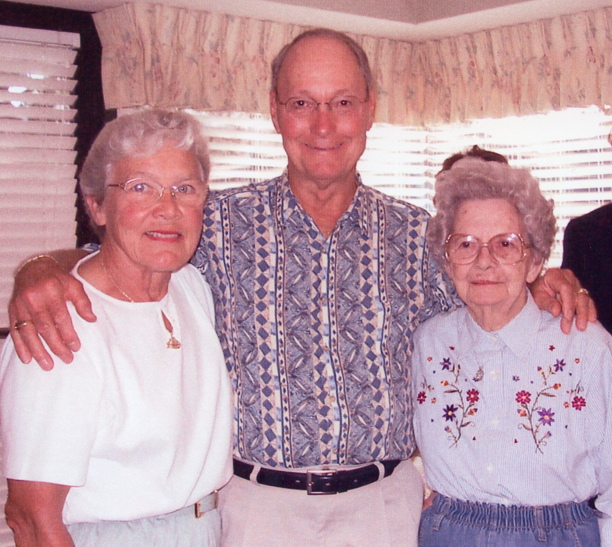 Margery Myers birthday celebration with Chuck and Irene.