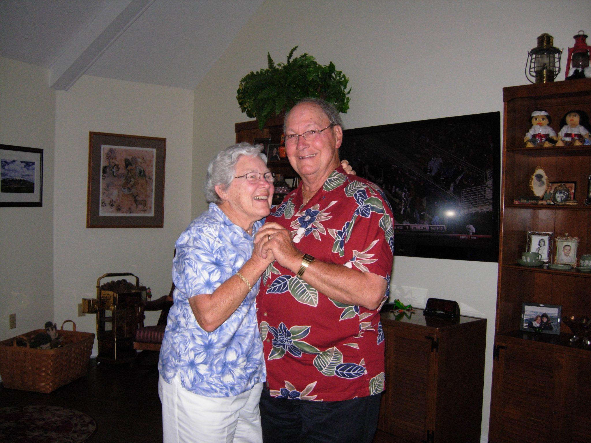 Gramps and Grandma enjoying life together!