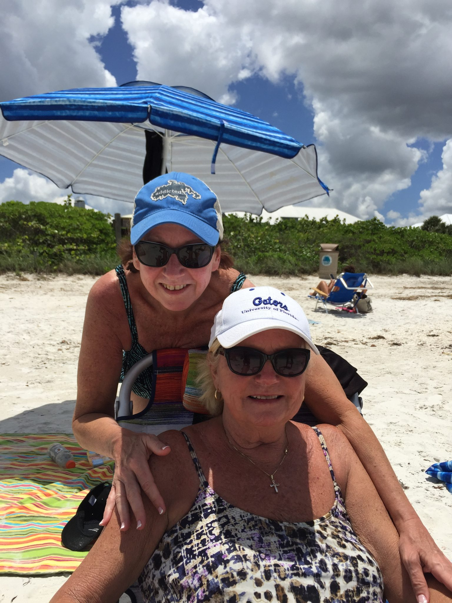 Me and my sissy Jan at the beach in Naples. One of her happiest places. I will carry your heart in my heart ❤️