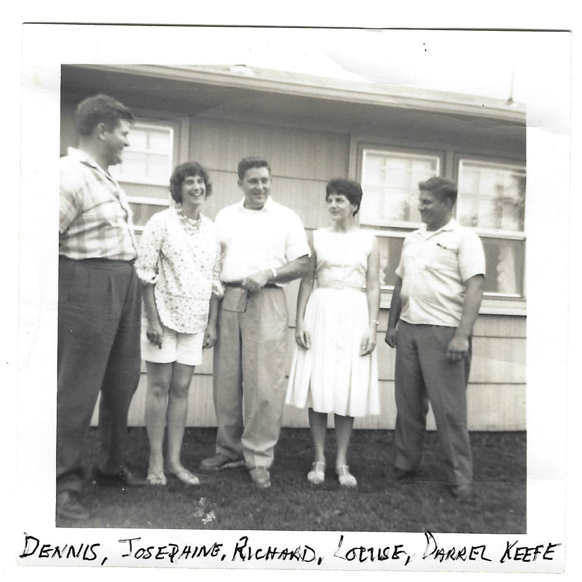 Dennis, Josephine, Richard Louise and Darrell Keefe circa 1958