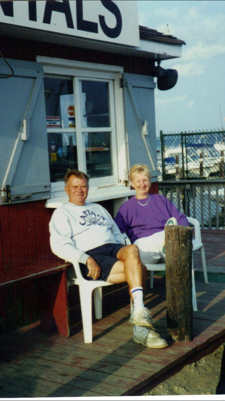 Earl and Shirley, aka: Mom and dad back in the marina days. I'm gonna miss you dad!