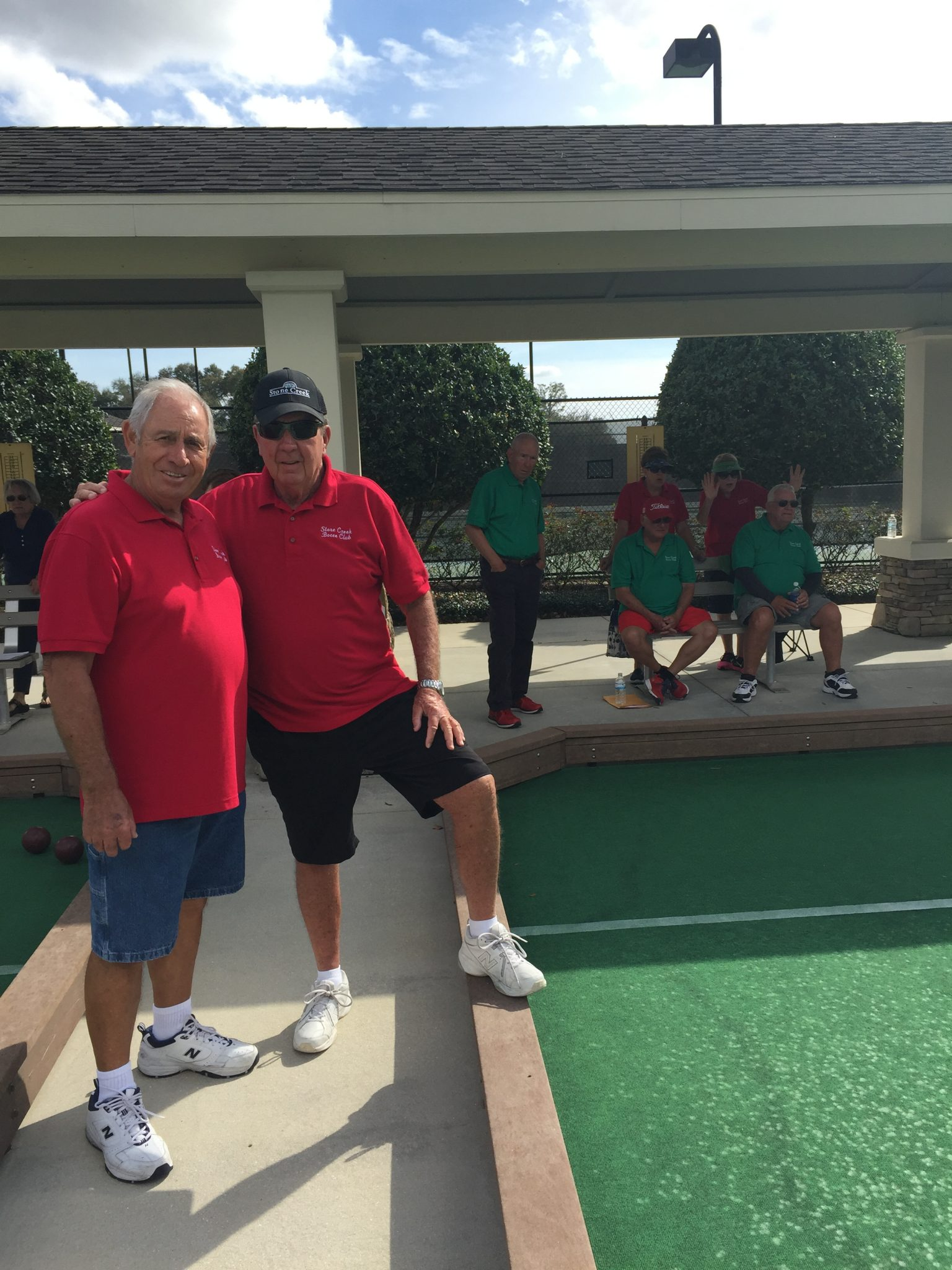 Brooks with Bocce friends