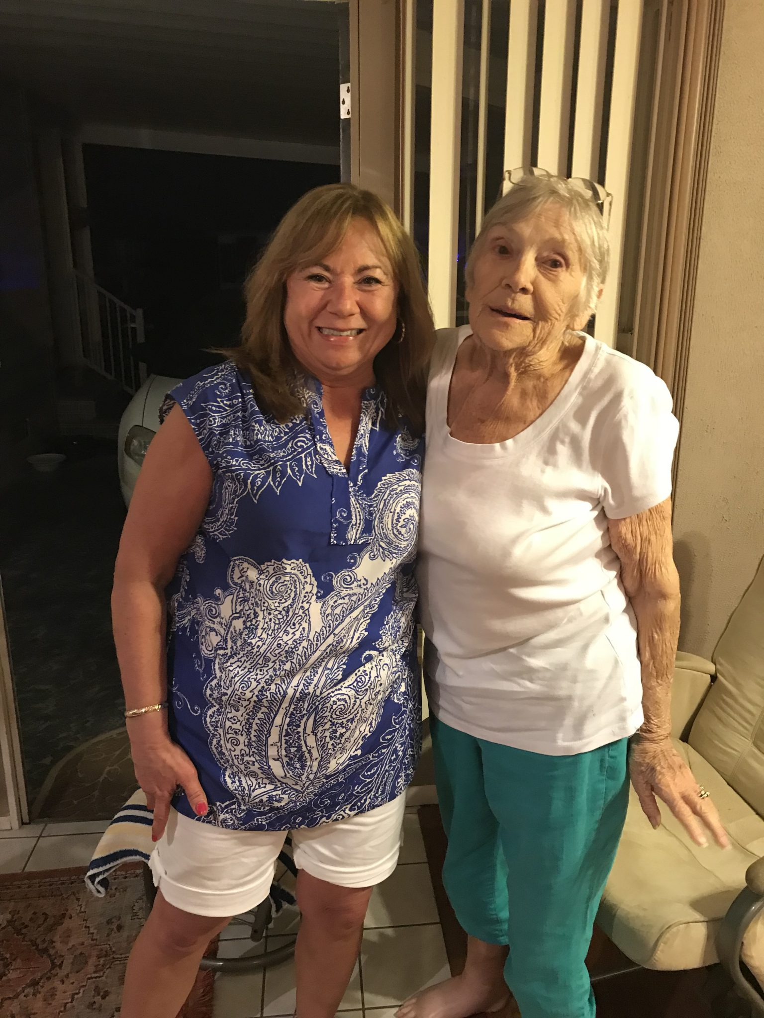 Sylvia and daughter Pam on her 81st birthday February 20, 2018