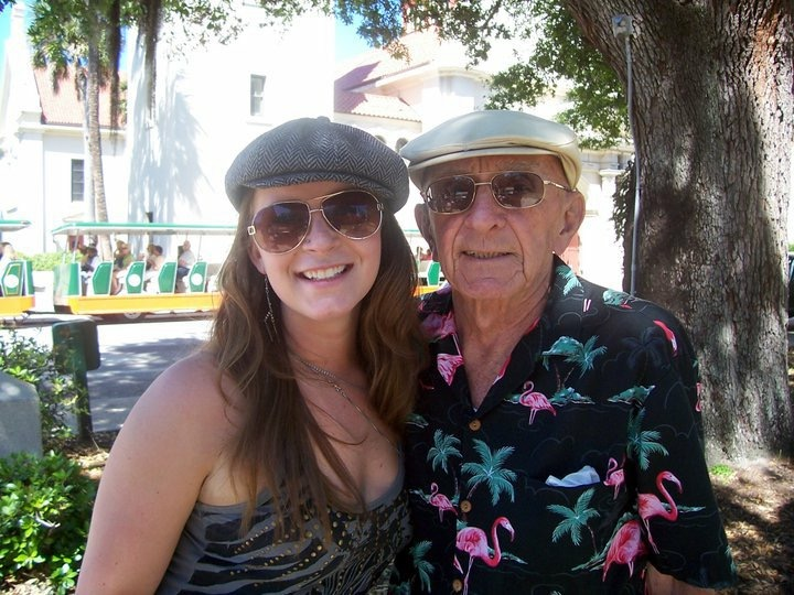"""The greatest man I've ever known. I will miss you everyday. I love you like """"a bucket full of garbage"""" and more than red freezie pops. My dear, Pop Pop ❤️"""