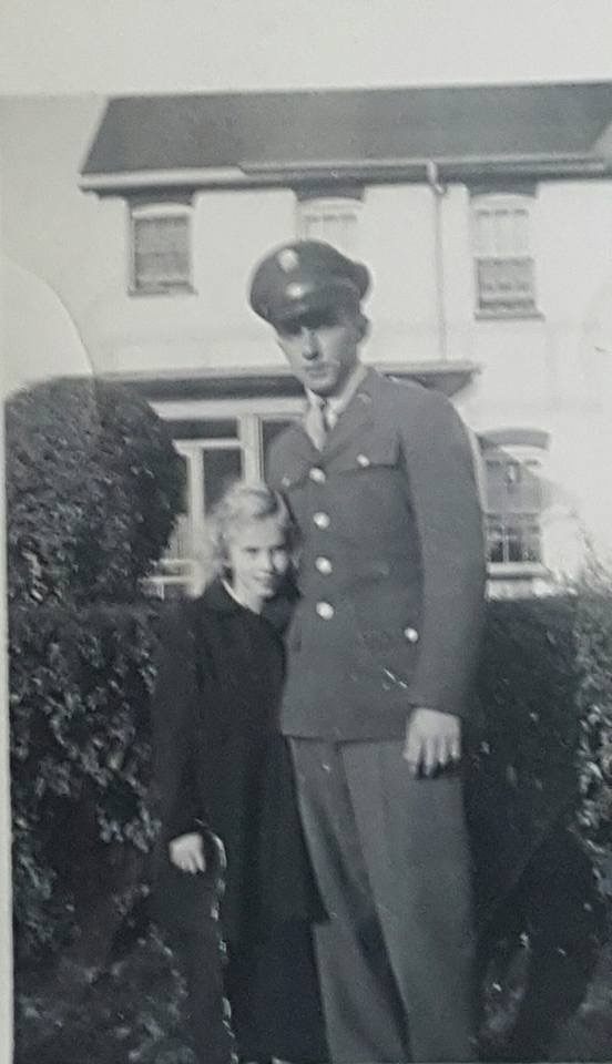 Dad in his uniform. WWII
