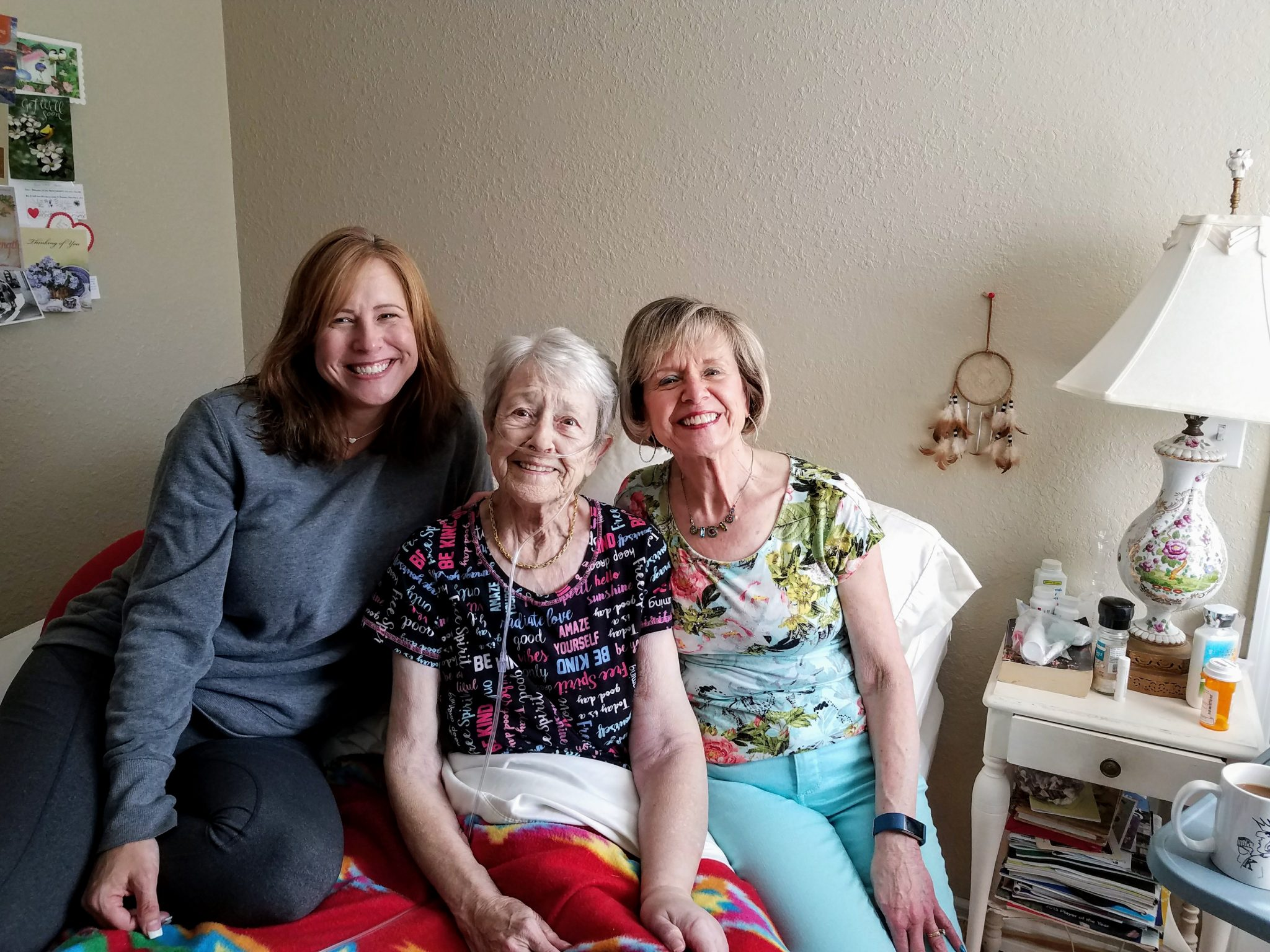 Visiting my sister Phyllis and niece Danielle April 201i
