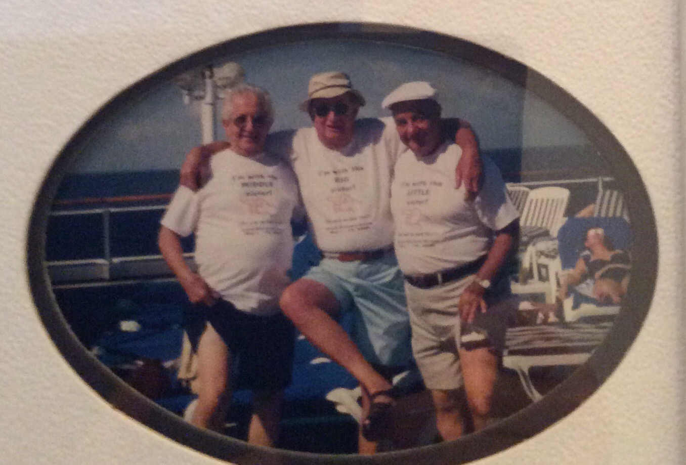 Mike, Tony and Harry on our cruise together