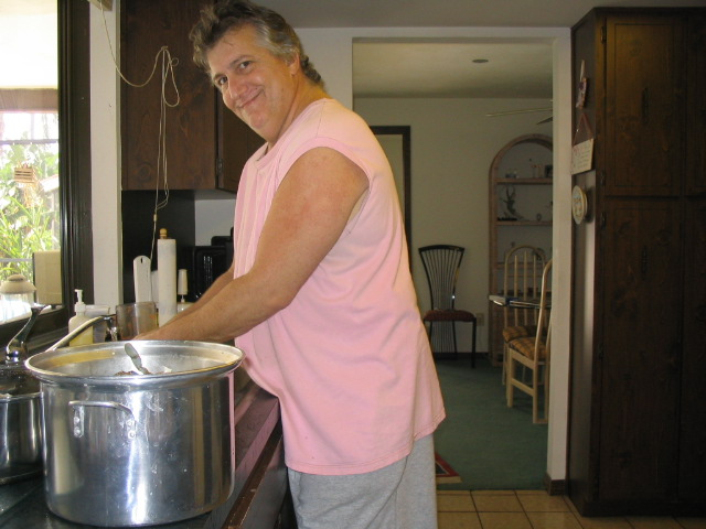 He's cleaning crabs! <br /> Miss you so much, you were a great man and better brother. Please remember us. Till we meet again. RIP Love,<br /> Patty