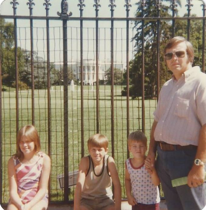 Dad with us in Washington D.C. in 1977.