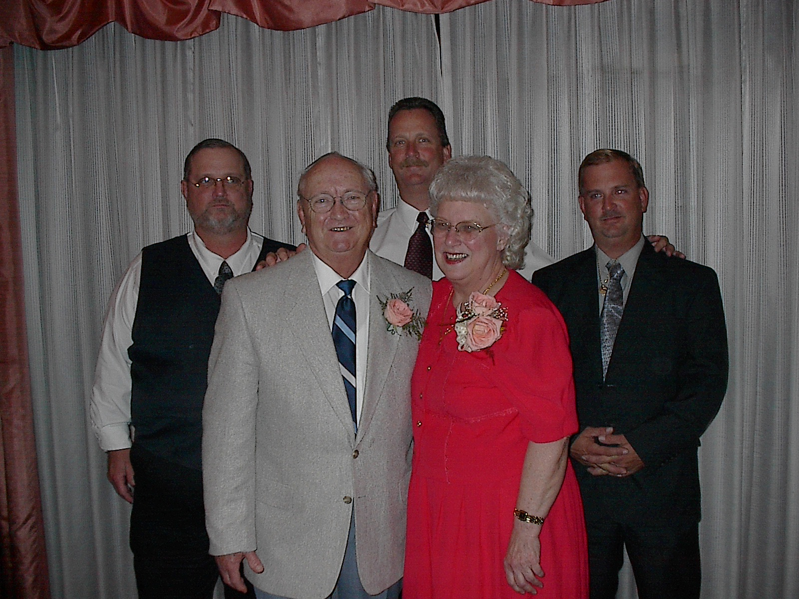 John and Betty and sons.  50th anniversary.