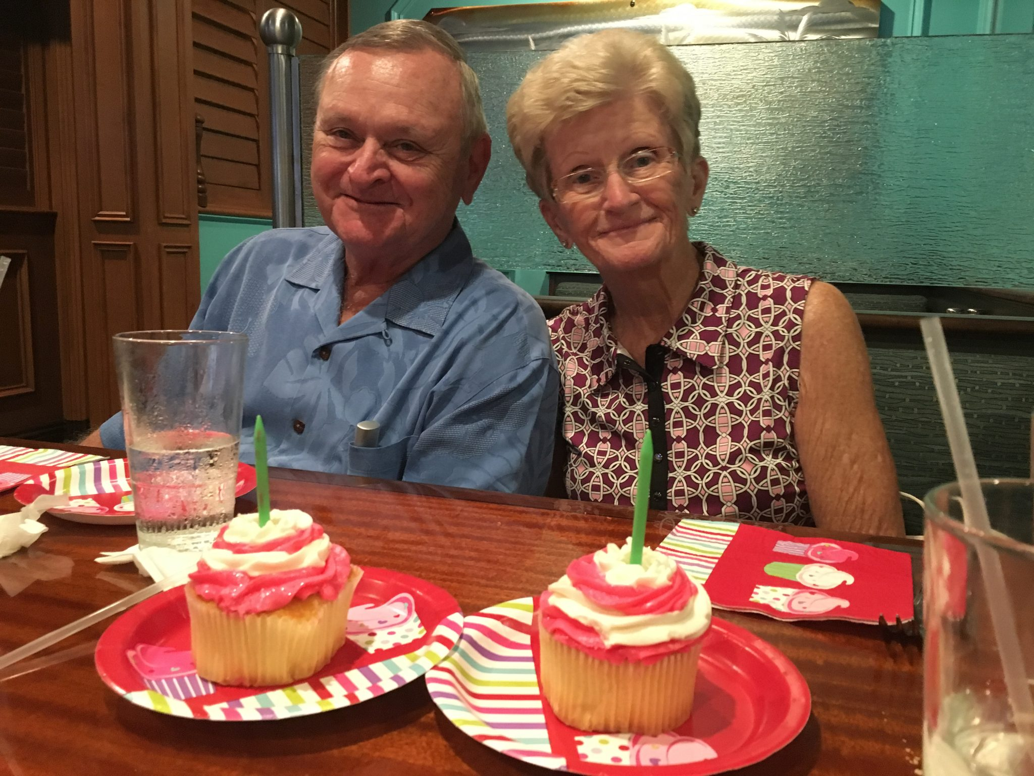 Tom and Judy celebrating my birthday with us Sept 2017...I miss you!