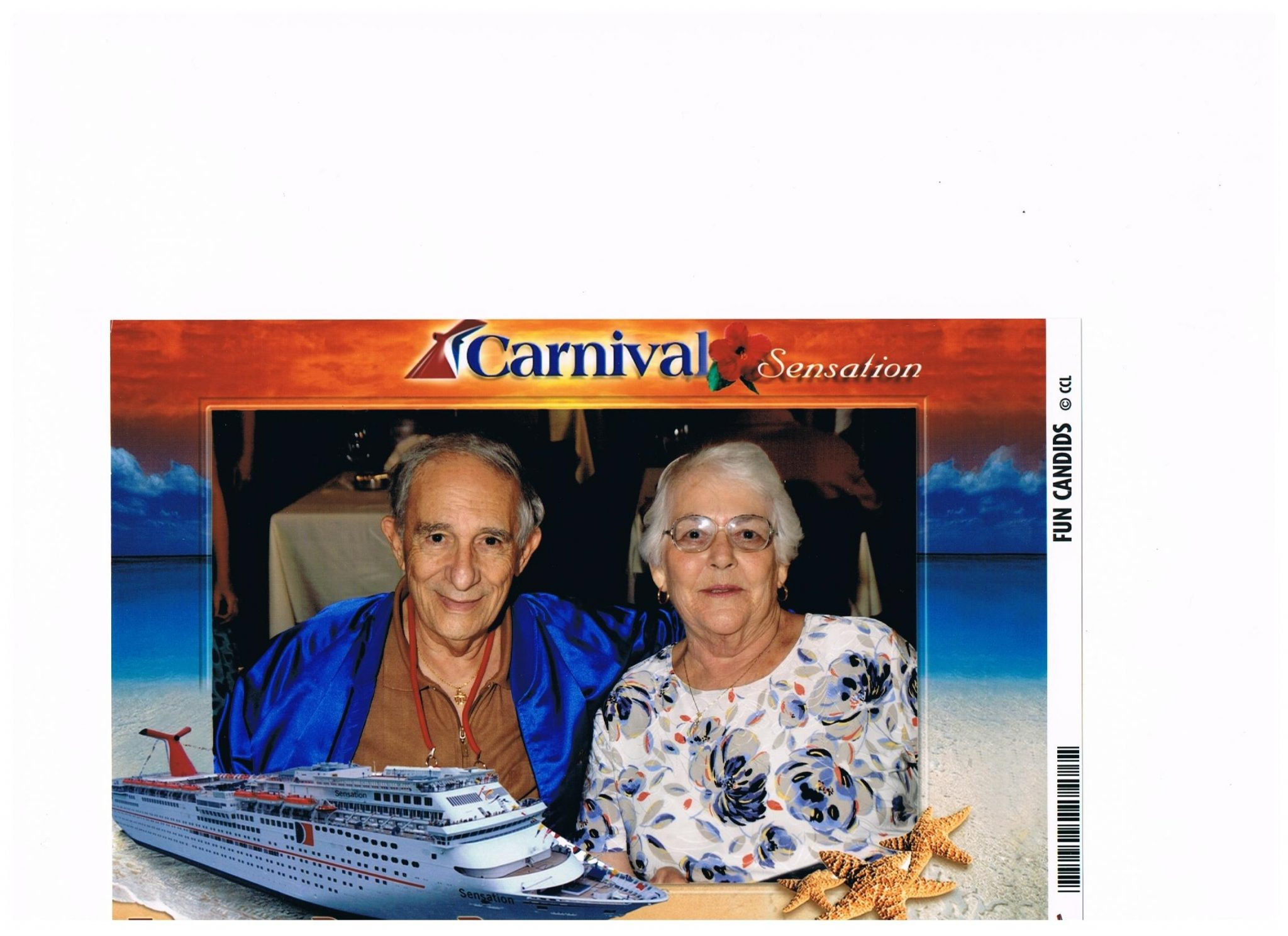 One of our many cruises. We had so much fun traveling around together.