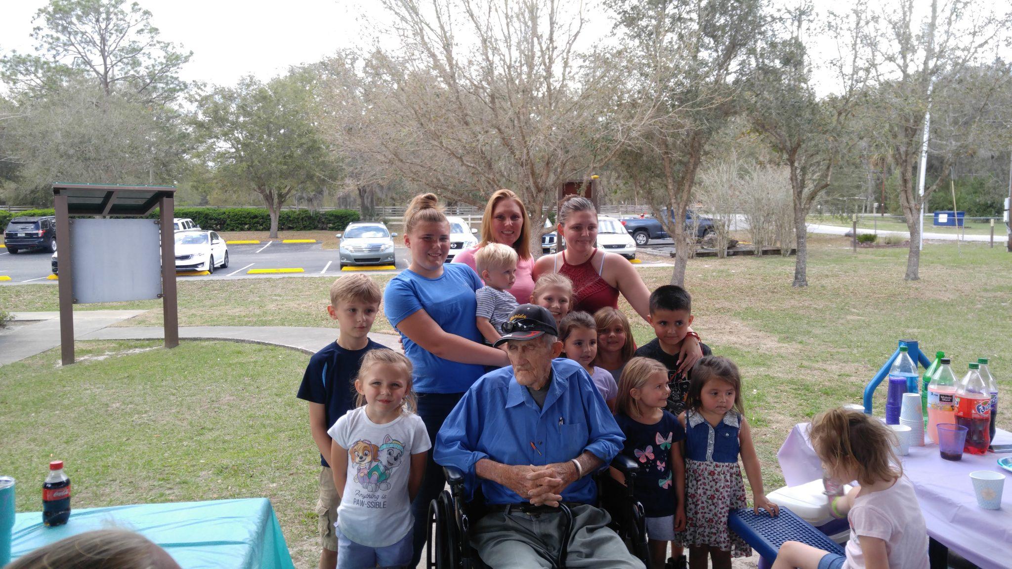 Wyatt with his  Grandchildren and Great Grandchildren