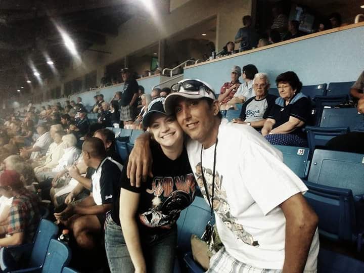 Me and Jeff at a Tampa bay rays game 2yrs ago ...love you so much you will always be in my ❤ I love you so much love Jess your gf❤