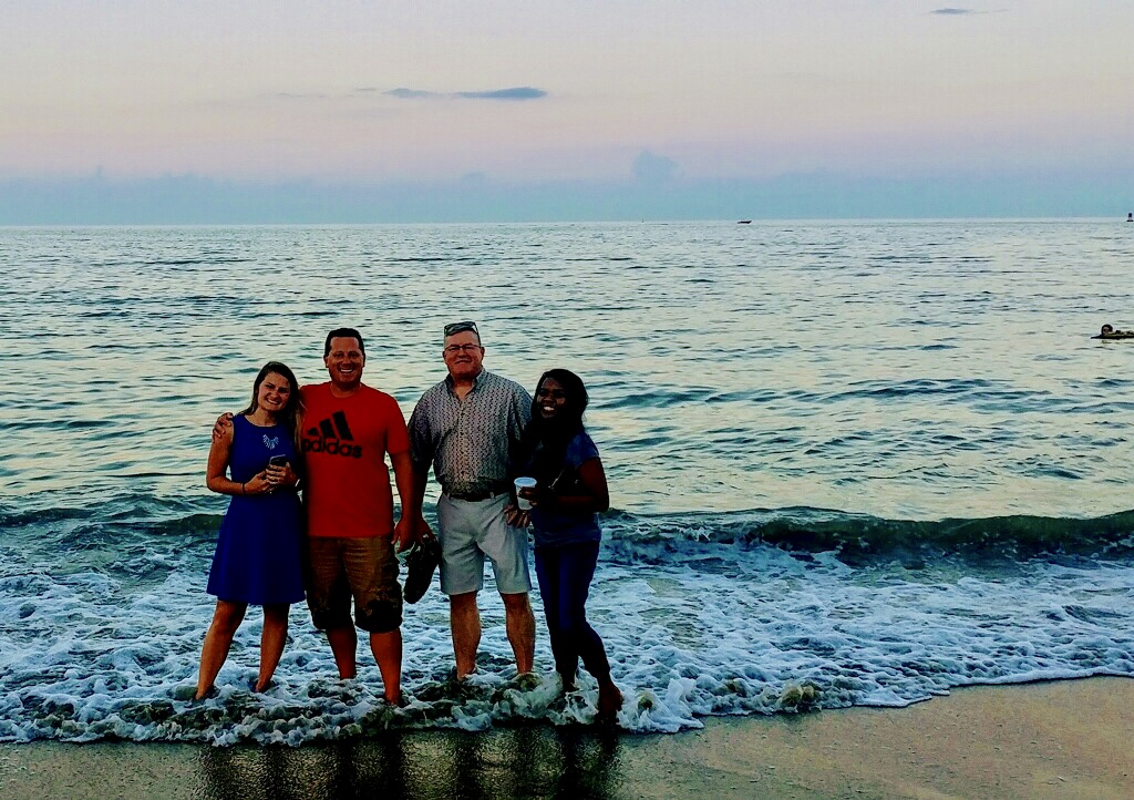 This picture was taken of Joyce and team in Virginia Beach on a work trip in August 2018!