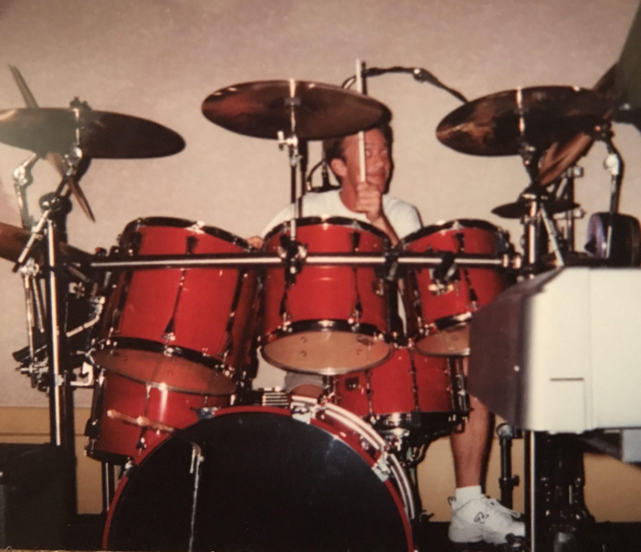 Mark passionately playing...