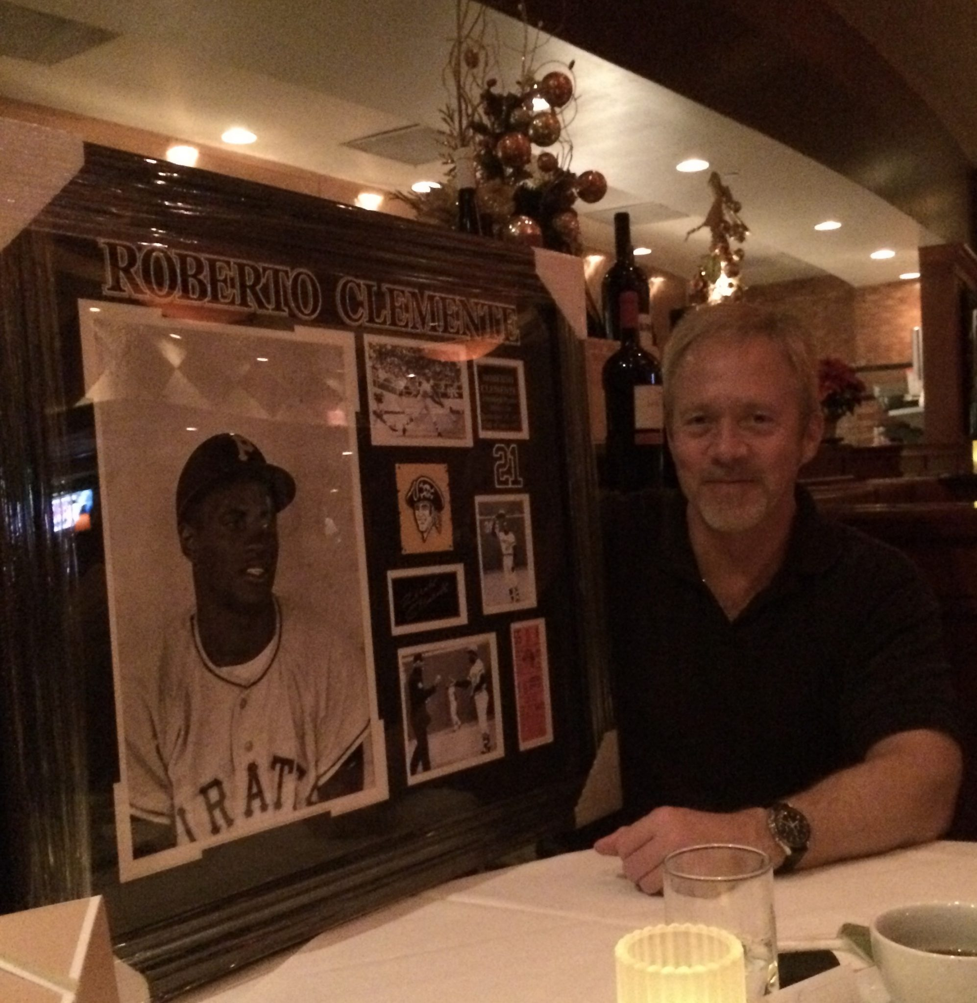 Another passion, baseball and Roberto Clemente...