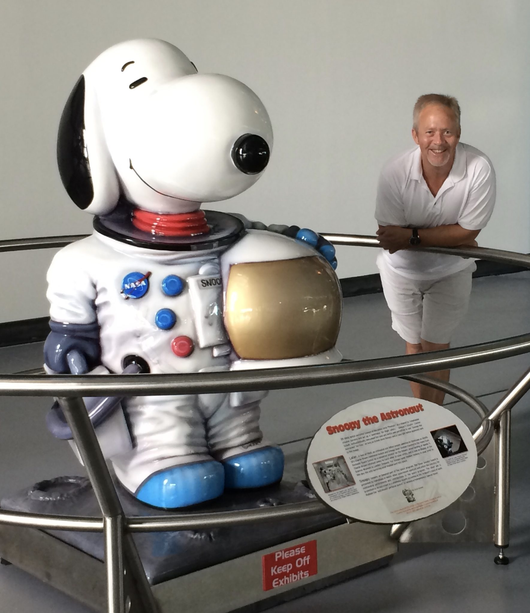 A very special visit to the Houston Space Center...