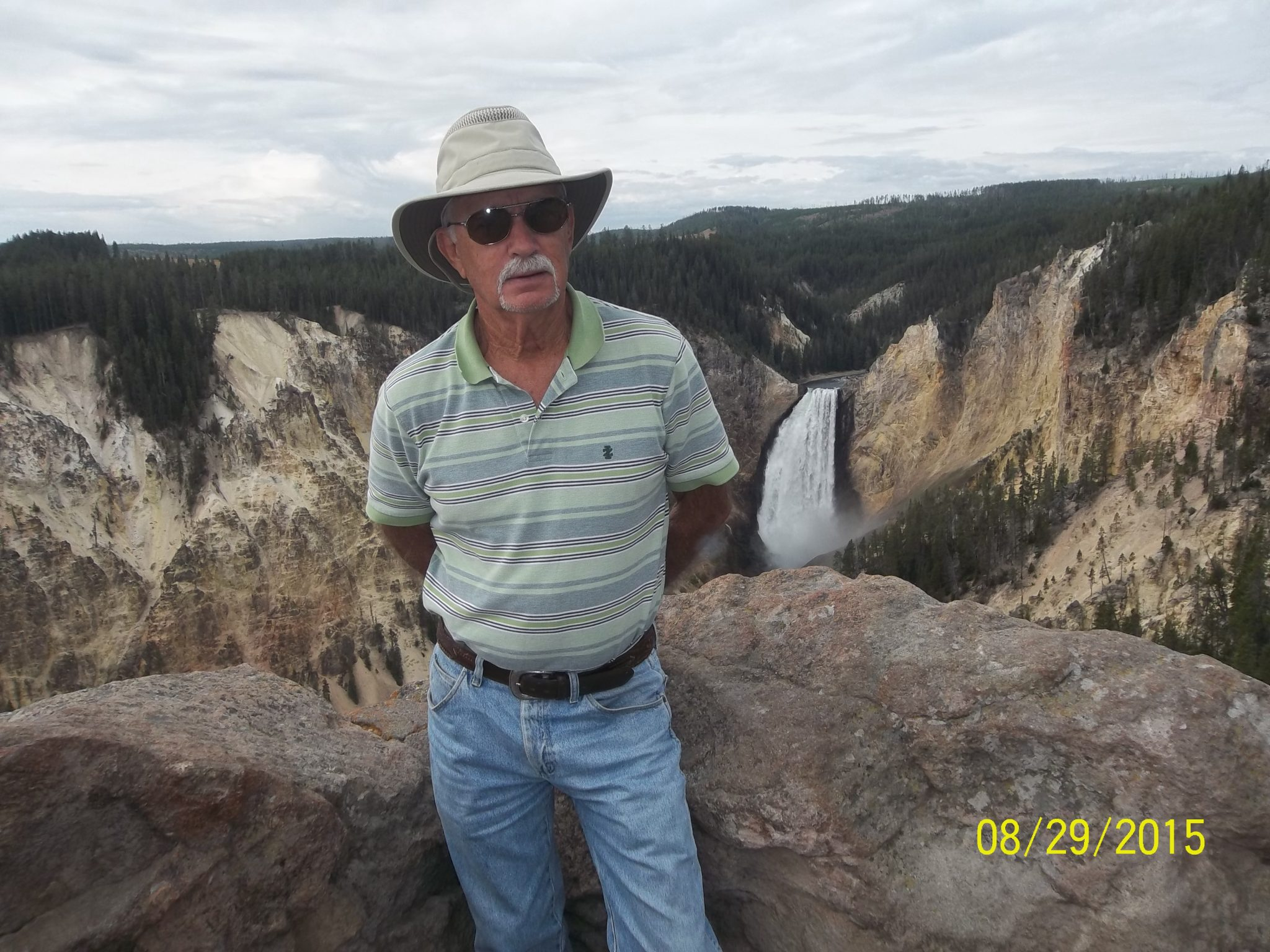 Grand canyon of the Yellowstone. Another great trip hiking the National Parks.