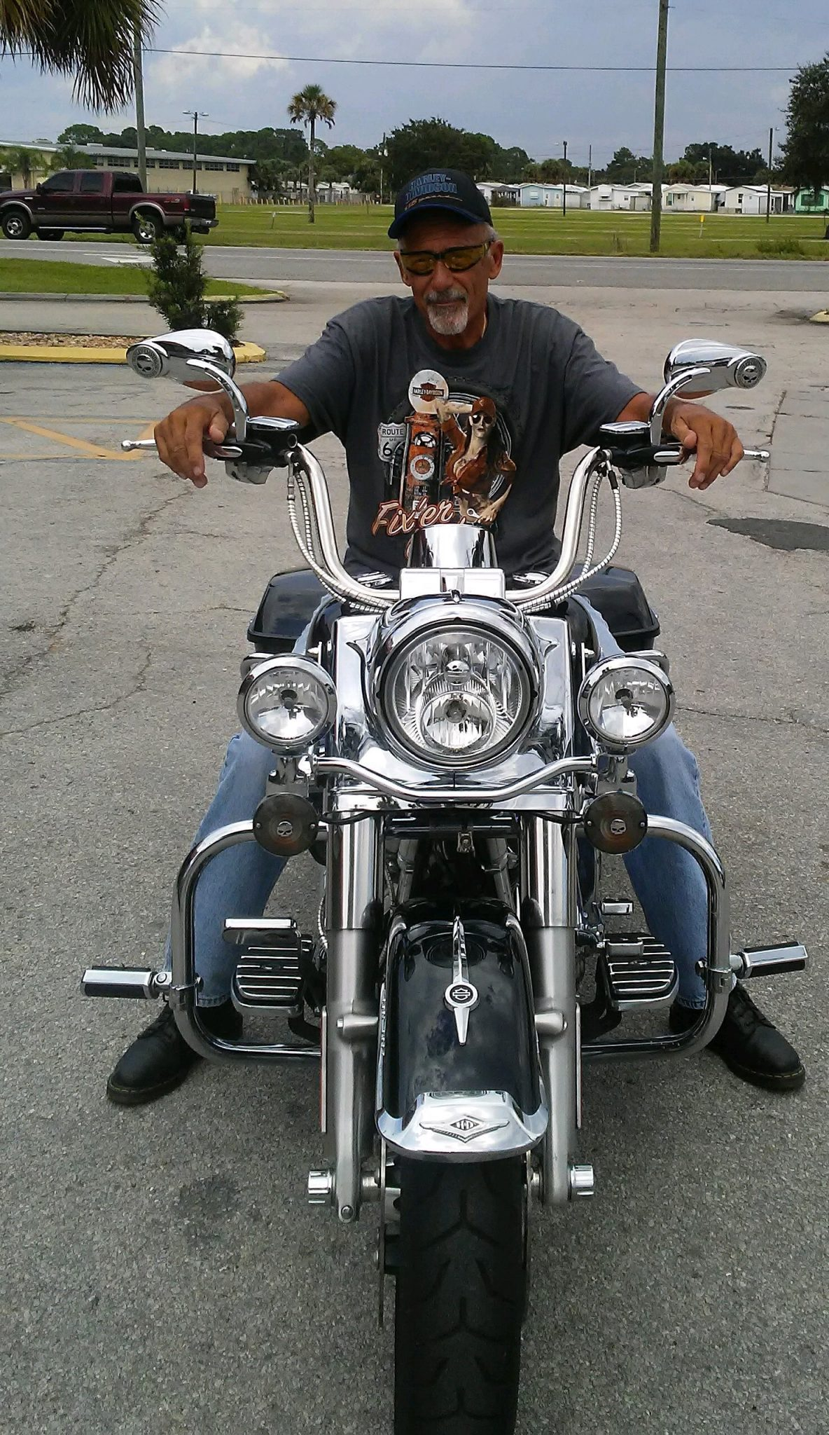Dad and his Road King