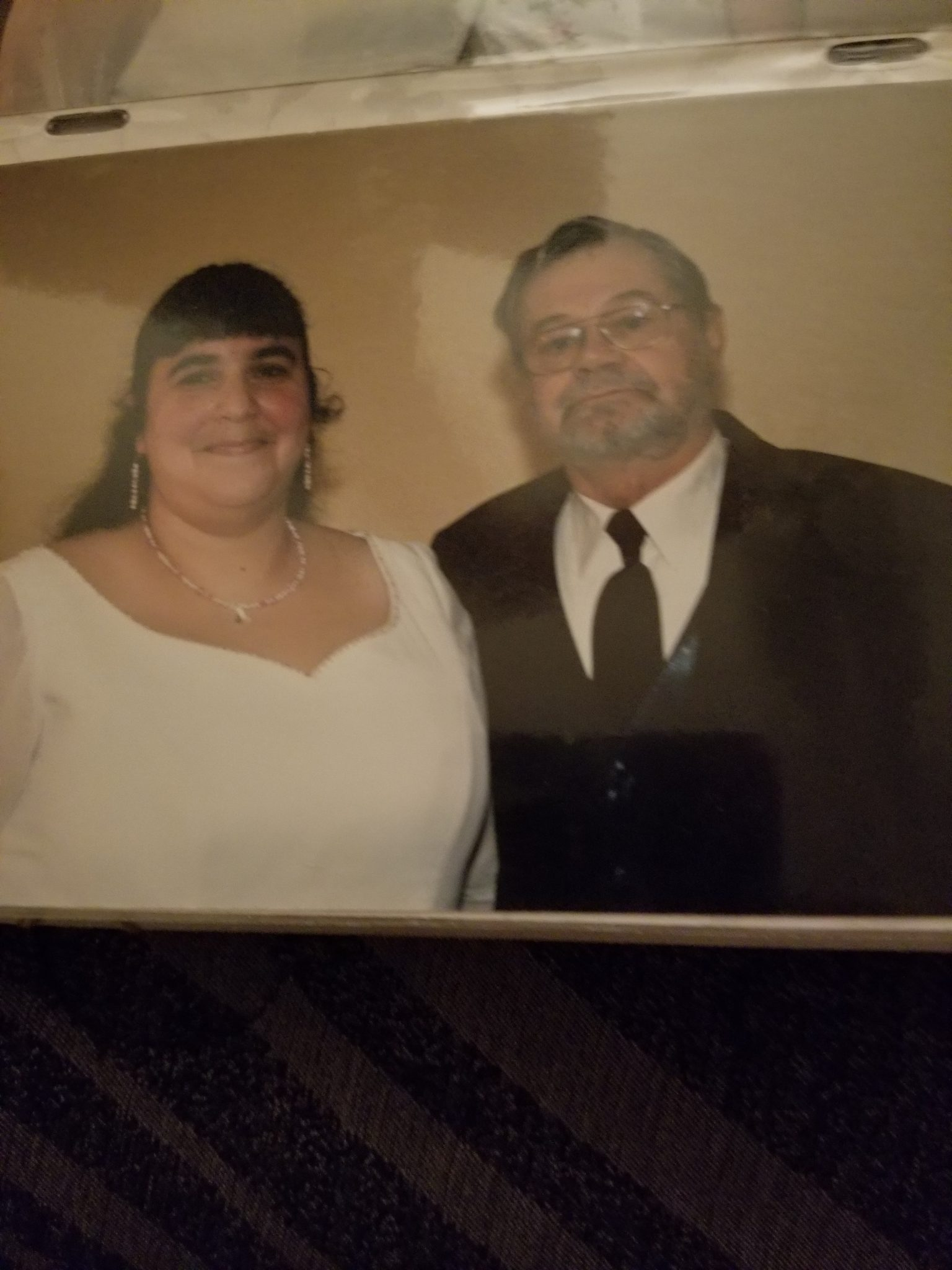 Me and dad on my wedding day