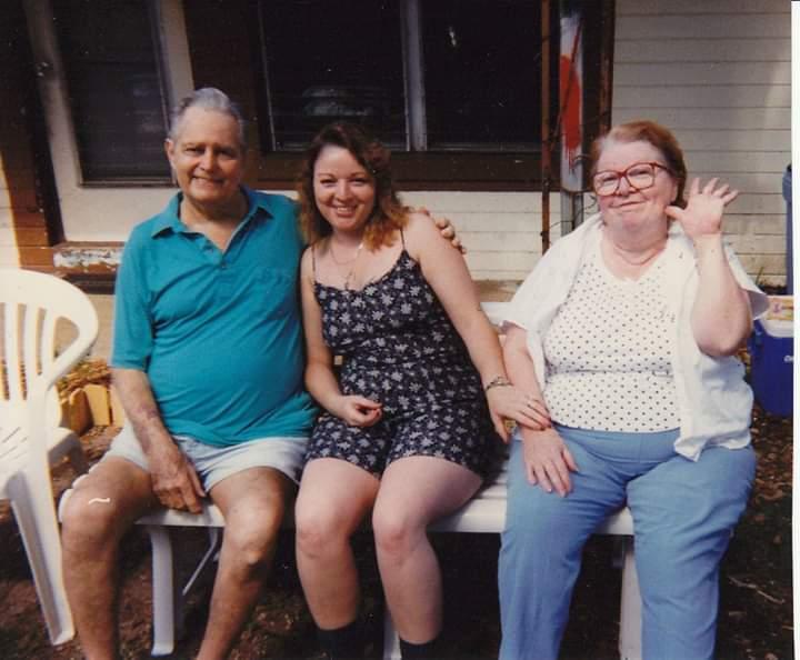 My mama, papa, and me.