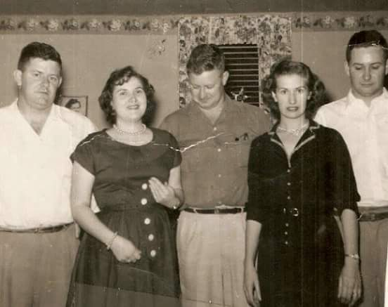 Betty and her sister and brothers