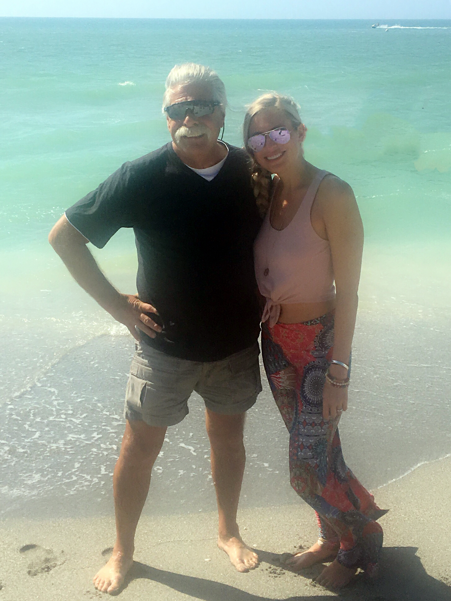 Dad & I in Captiva Island