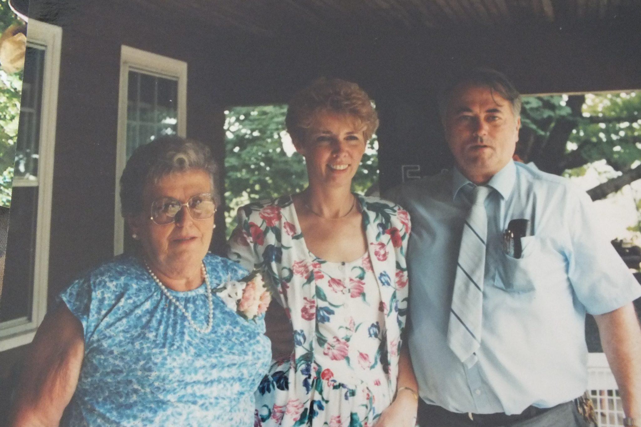 Lewis, his mom and wife Barbara in Jamestown RI