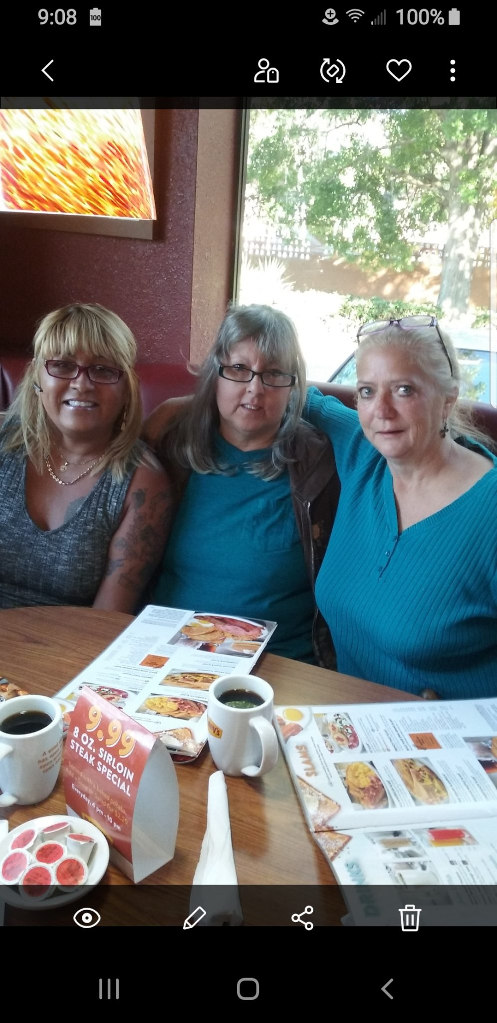 Birthday Breakfast at Denny's in may of 2017 with Jenny, Sandy and Cindy we sure had fun that day❤ Thank you Cindy your Big Sister Sandy sure enjoyed you being there ❤Cindy it's still unbelievable that your gone but I now your in a better place may you be in the glory of God and the Angel's until we meet again  R.I.P Cindy ❤