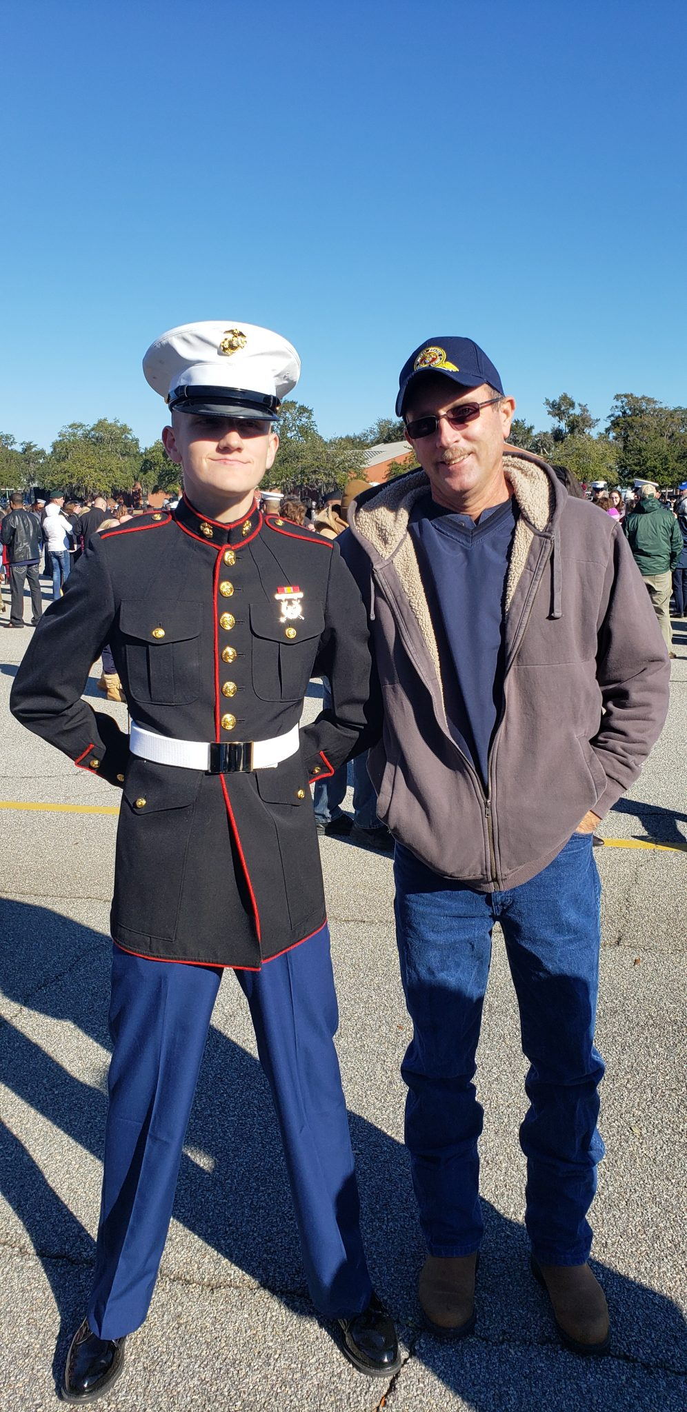 Our son graduated from Paris Island he had just become USMarine on Jan 25. 2019 His father and I were so proud of that kid ❤️