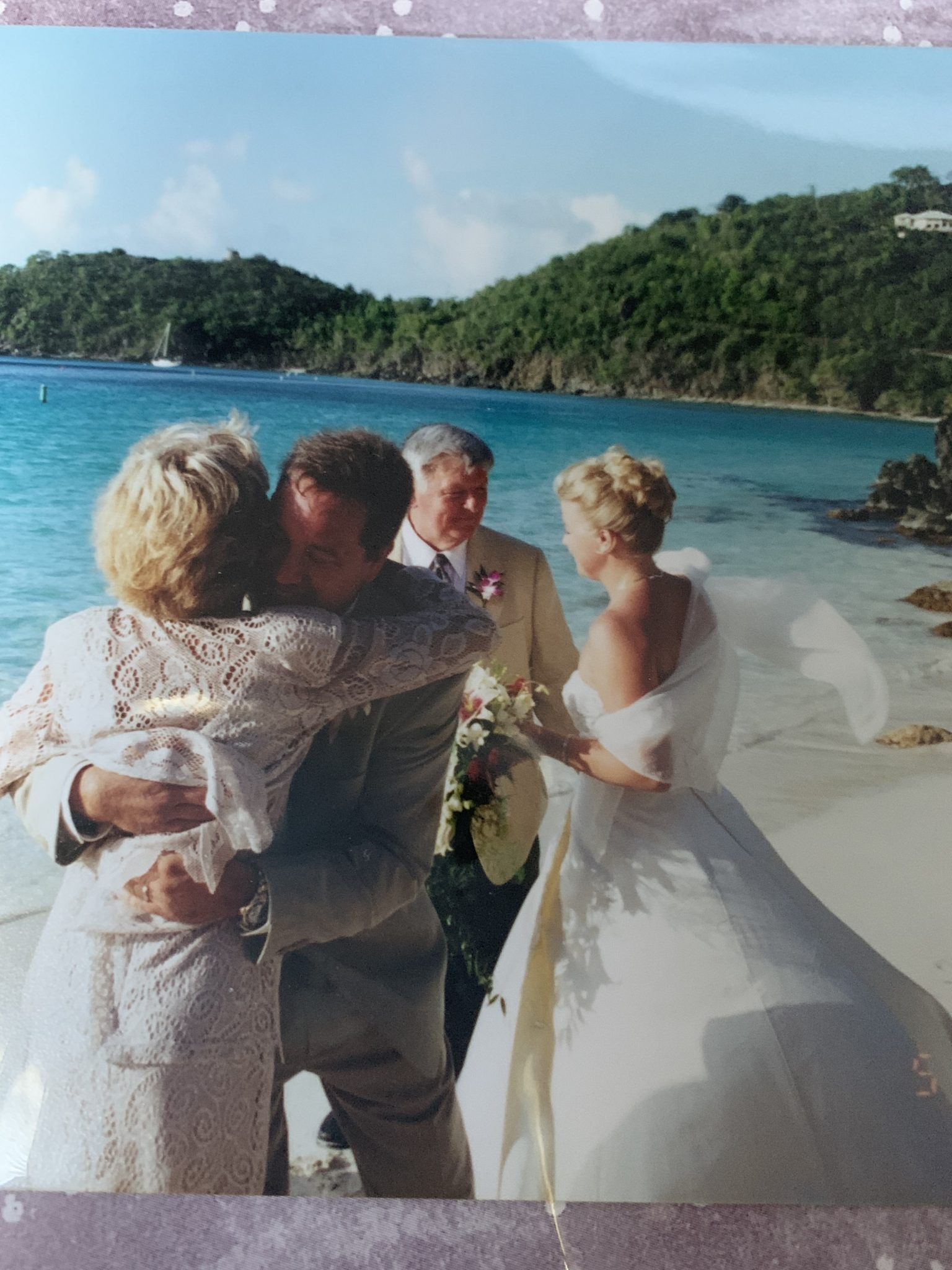 Mark and Jeanne's wedding in St. John