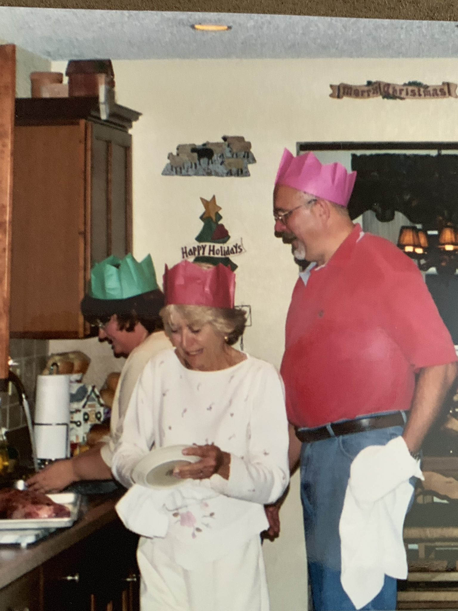 Bob, Meg, and mom in the kitchen!:-)