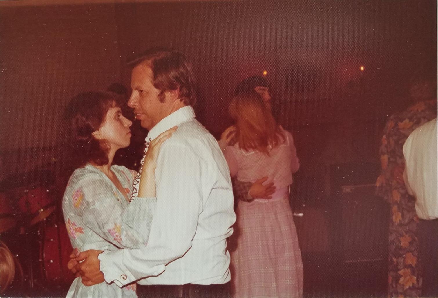 May 1, 1977<br /> Alan & Barbara Dancing at our reception.