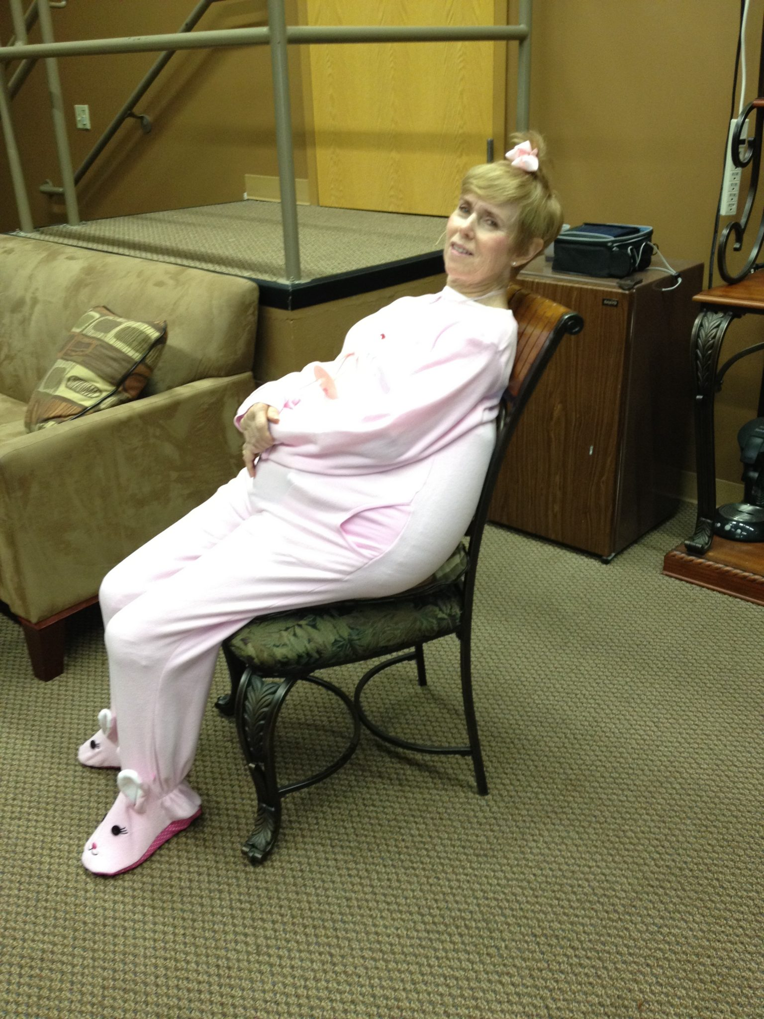 """Chilling in the green room before our """"babies"""" sketch at Metro Church."""