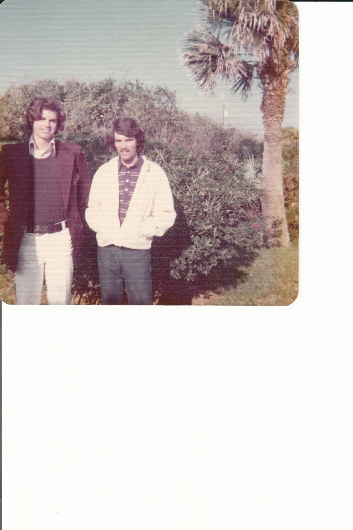 Scott and I when I visited him in Ormond Beach in February 1974,  we were both 17 years old.