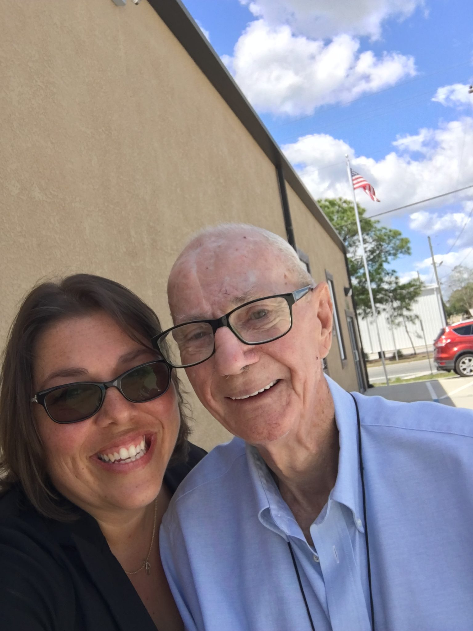 Mr. Bruce drove an hr to surprise me at one of our Sunday church services! He was a special man, and I miss him very much!