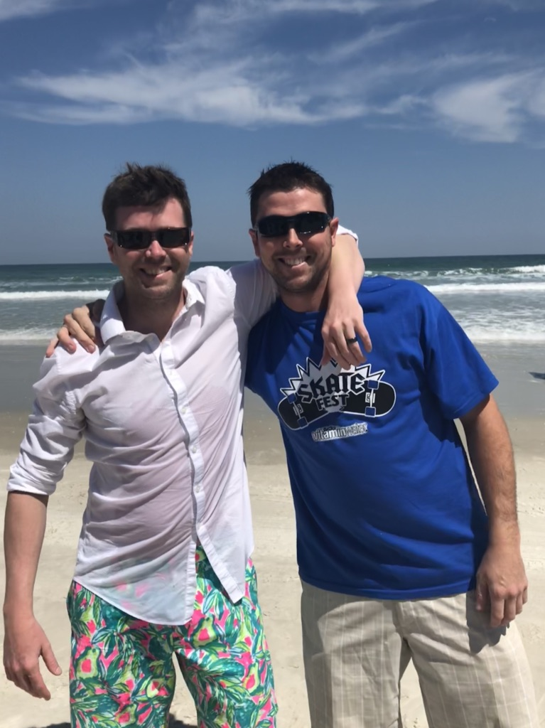 Chris with brother Kelly March, 2018