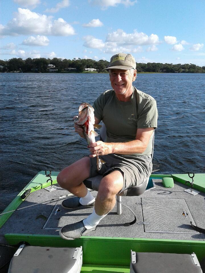 Mark on his favorite lake, enjoying the good life.