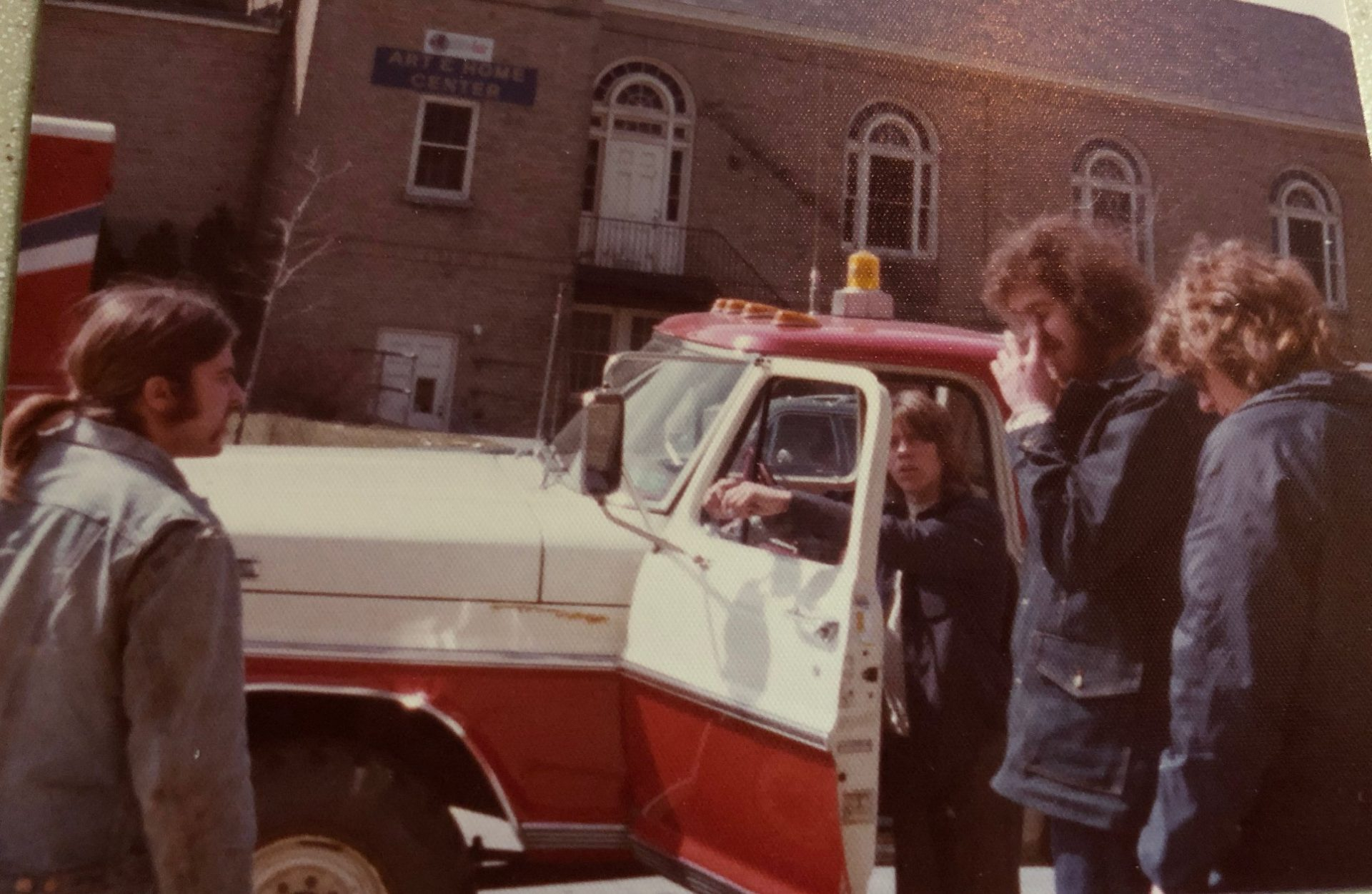 Danny helping me unload my 62 Corvette at the 1975 Syracuse Motorama , RIP my great friend