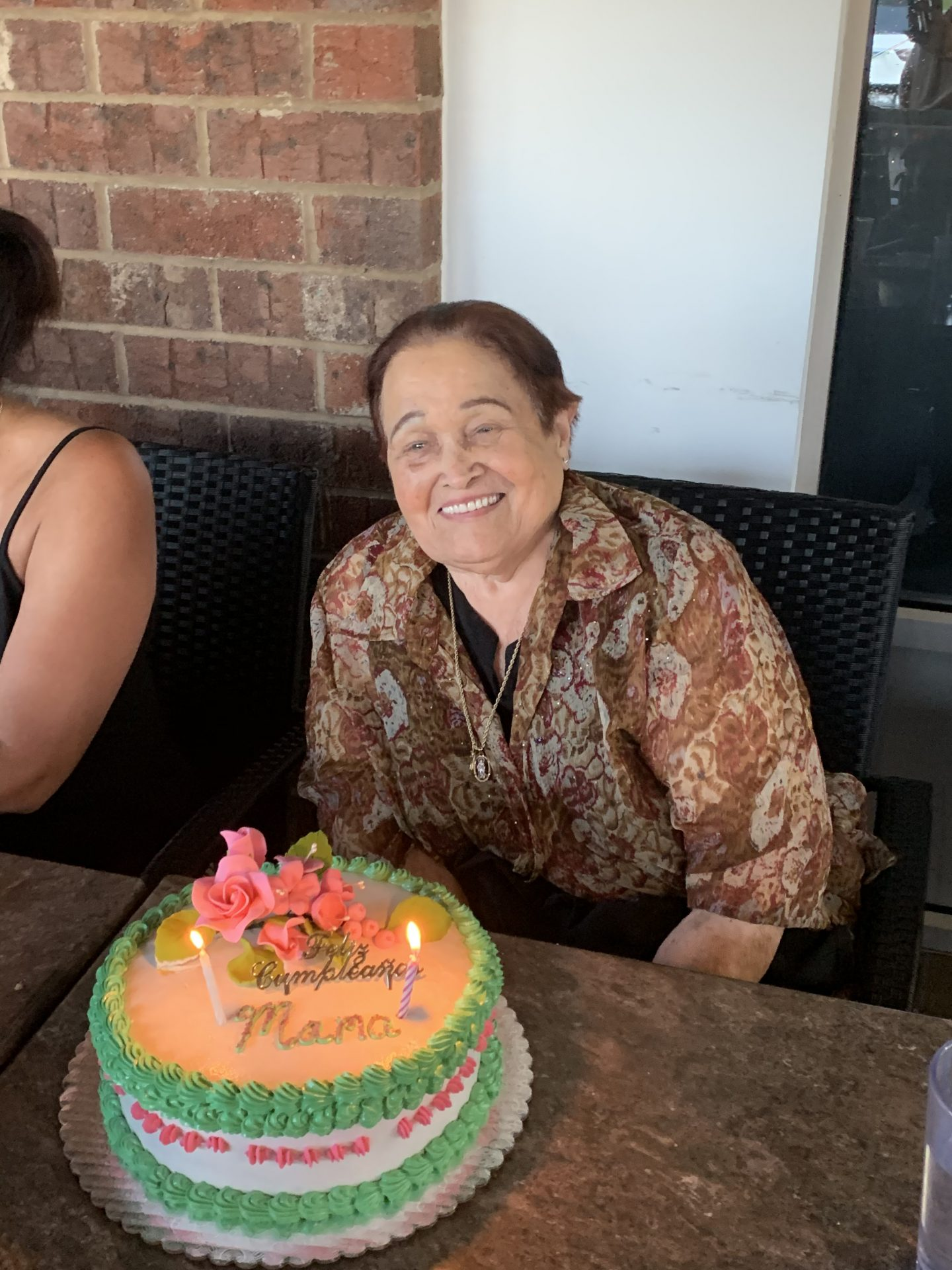 Her last birthday celebration in April. 83 and glowing!
