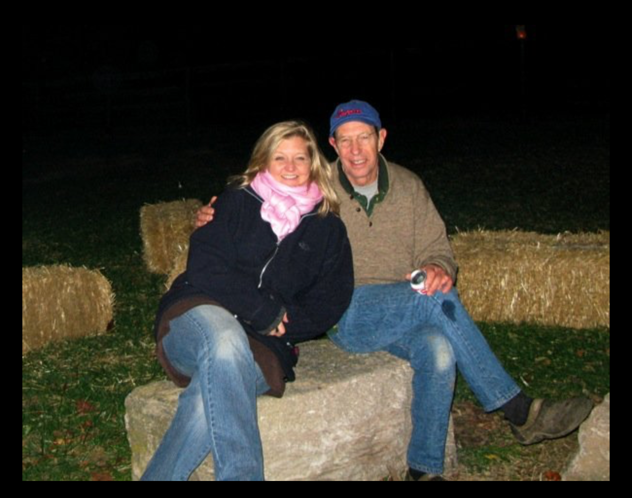 Grateful to  see Paul at this bonfire at Doug's.