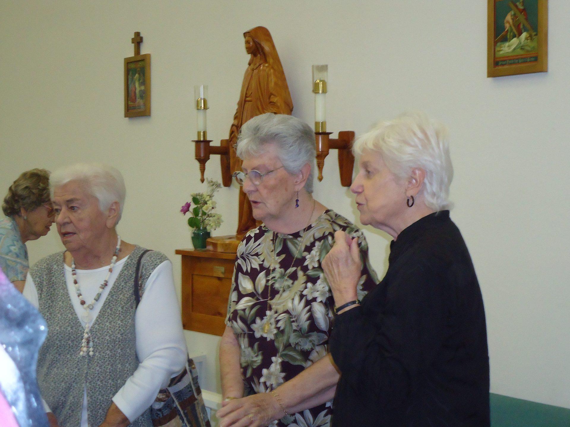Ann at an after-mass function 2013