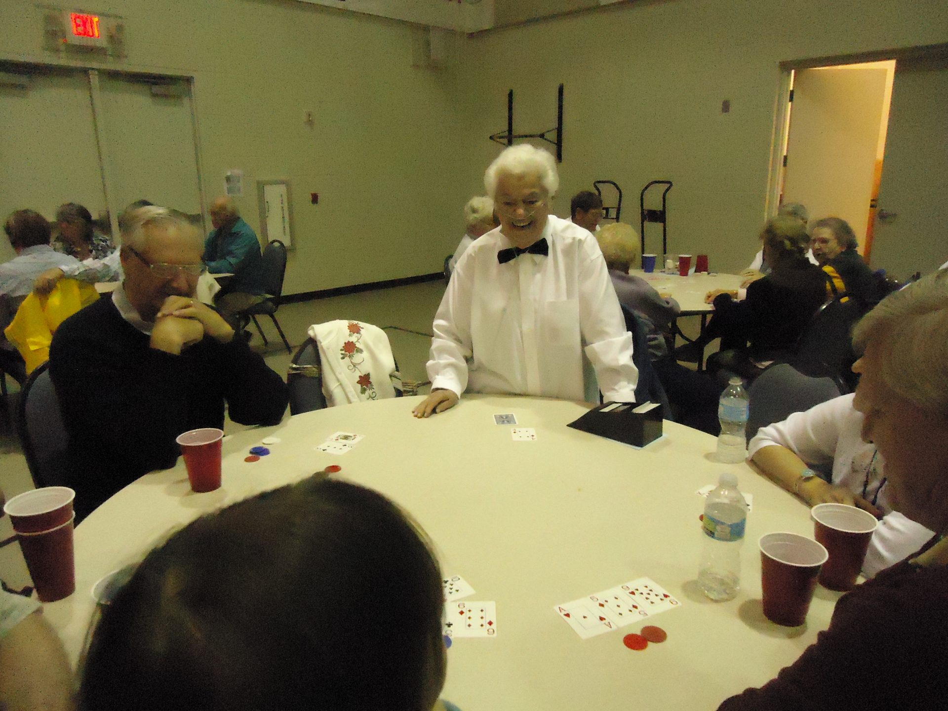 Beloved Ann as one of our poker dealers at the St. Vincent de Paul Las Vegas Night 2/2016