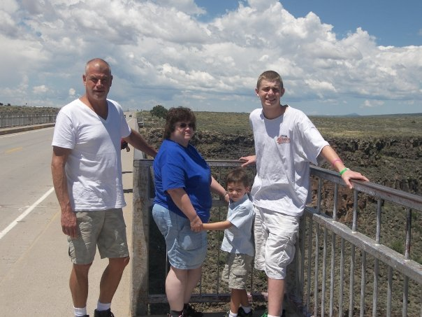 Greg, Bobby and friends on the bridge over the continental shelf in New Mexico.