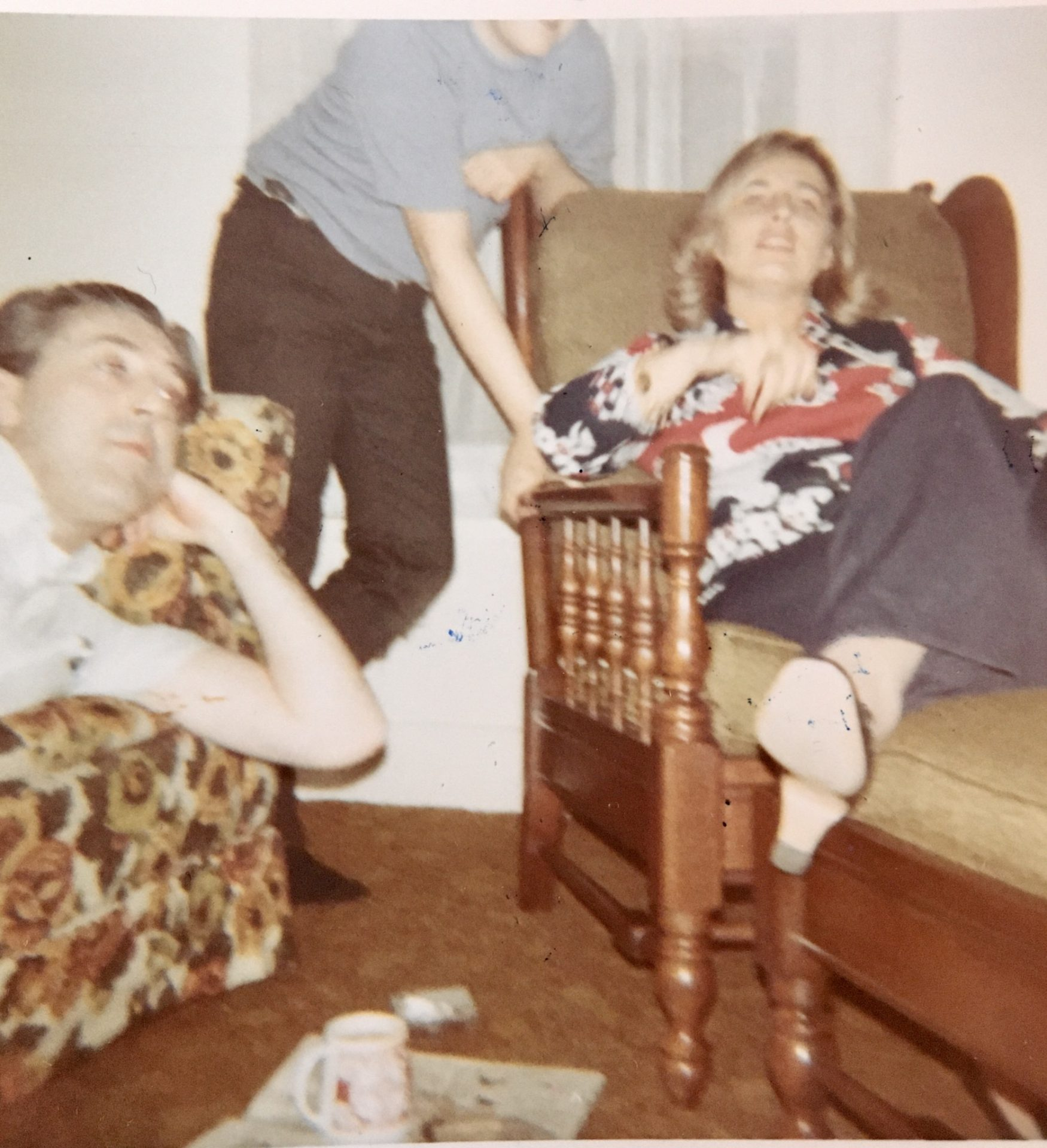 Pat and Frank, May 1972. She visited while in Albany for business.