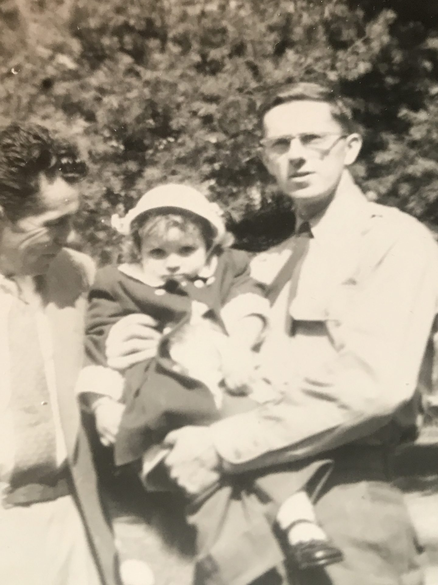 My beautiful Godfather/Uncle,<br /> Richard holding me,Robbie (Roberta)1954 with Rodney.