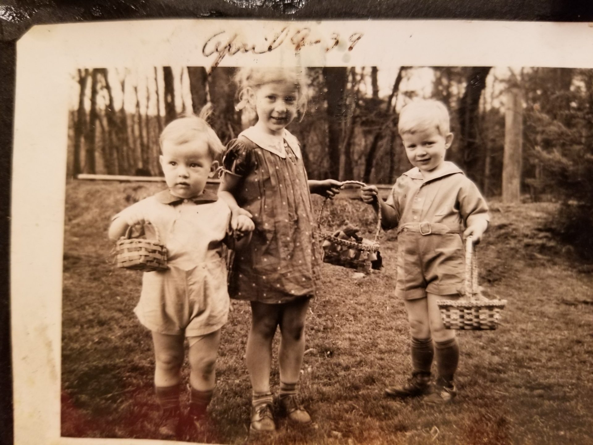 George Bentz at 2 years old with sister Betty and brother John