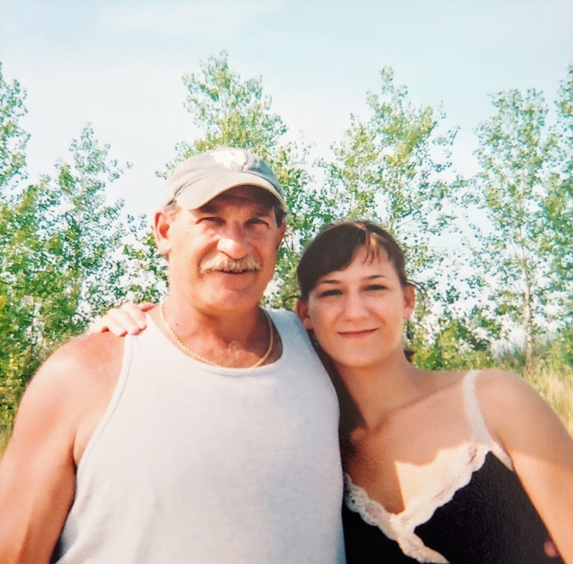Crystal came to visit her dad.  Very nice picture of daughter and daddy